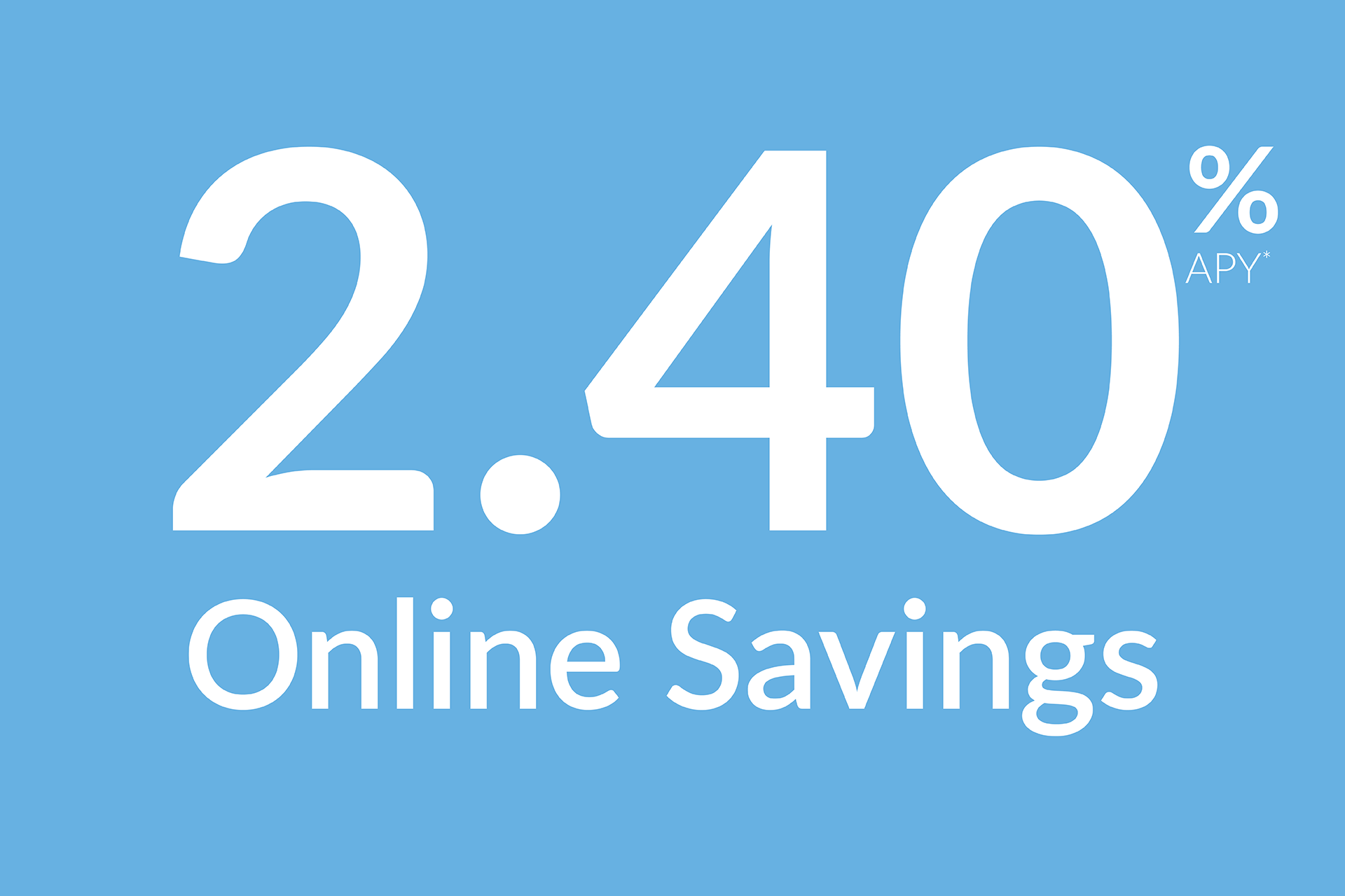 2.40% APY* Online Savings